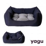 Pat YAGU Confort Marino cu perna albastra-gri