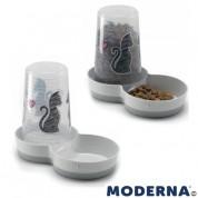 Dozator hrana/apa MODERNA pentru pisici CATS IN LOVE 1,5L