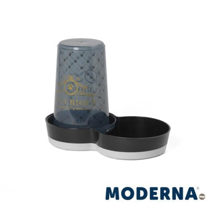 Dozator hrana/apa MODERNA pentru pisici LUXURIOUS 1,5L