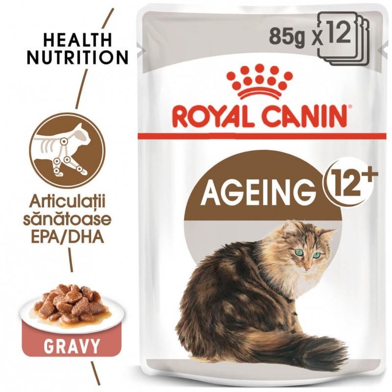 Hrana umeda Royal Canin Ageing 12+ (sos) pachet 12x85 g