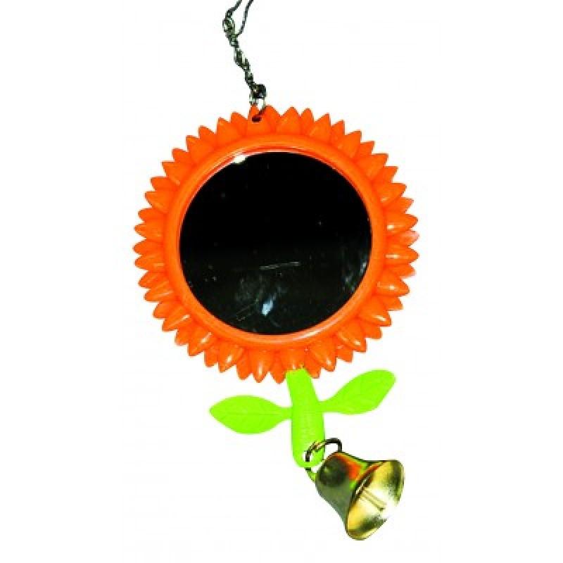 Jucarie pentru pasari - oglinda in forma de floare cu clopot