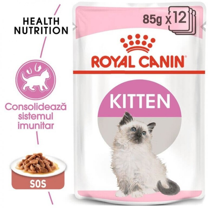Hrana umeda Royal Canin Kitten Gravy pachet 12x85 g