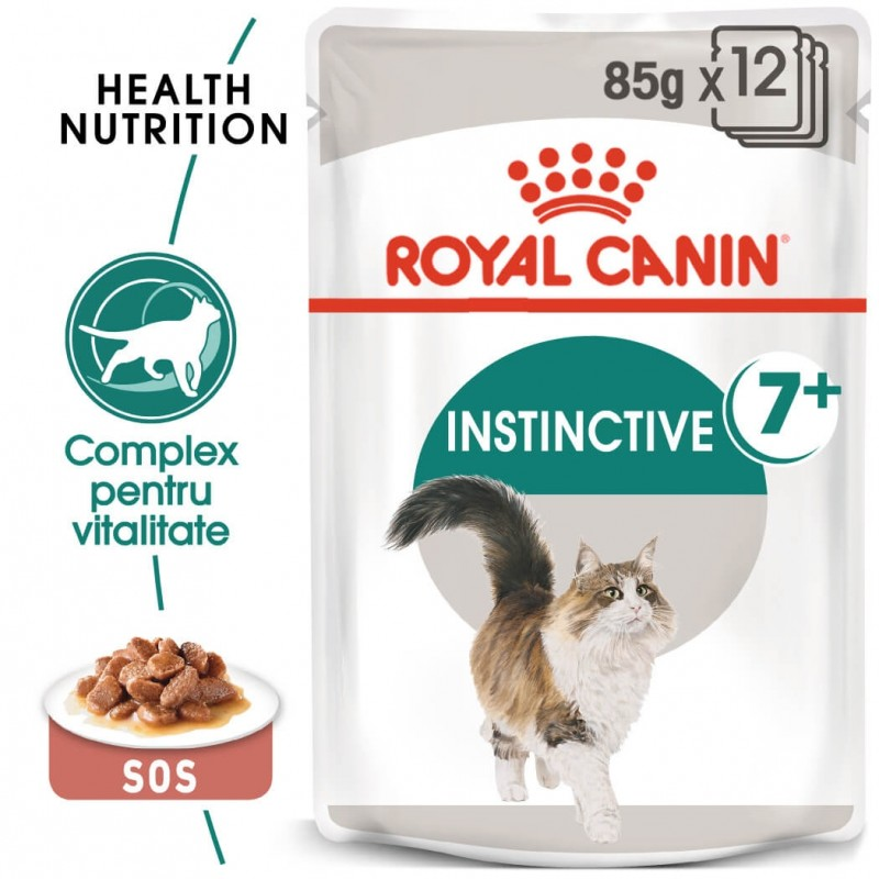 Hrana umeda Royal Canin Instinctive 7+ pachet 12x85 g