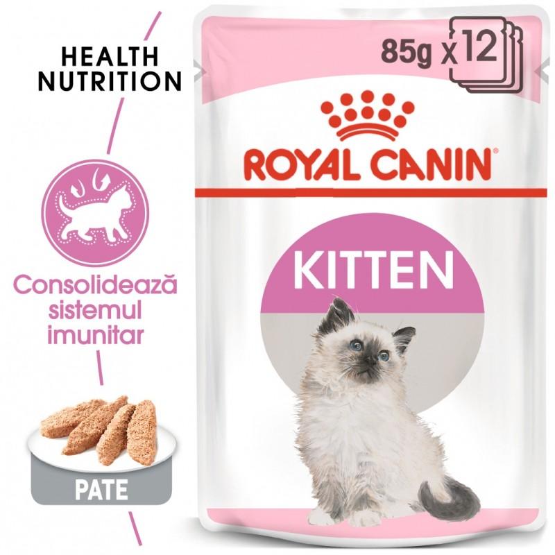 Hrana umeda Royal Canin Kitten Loaf pachet 12x85 g