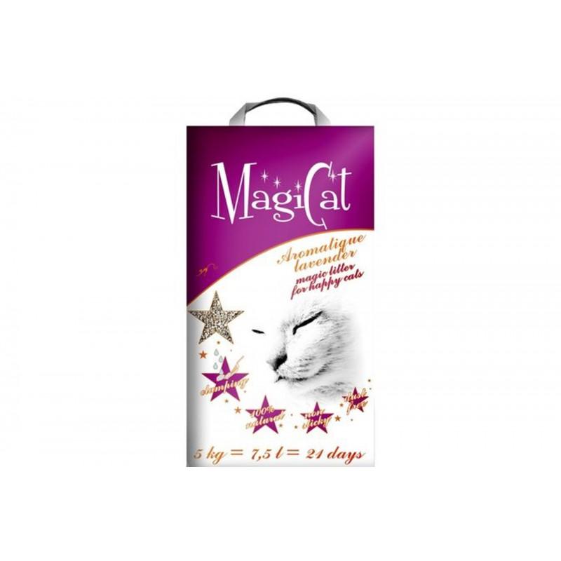 Aşternut igienic MAGICAT cu aroma de LAVANDA pentru pisici
